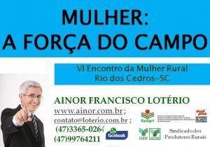 Ainor Lotério - Rio dos Cedros SC - Mulheres