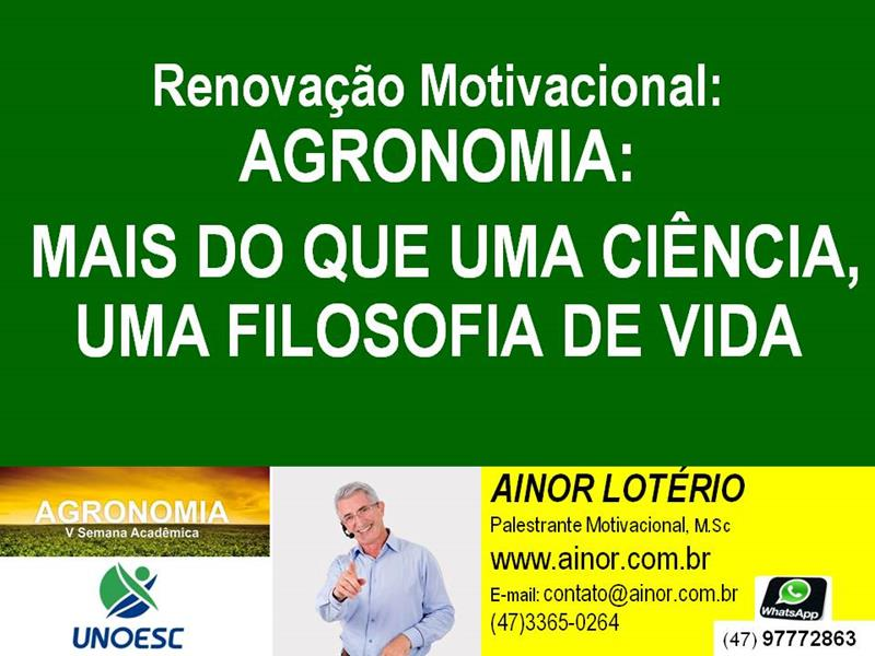 Renovação Motivacional Agronomia Mais Que Uma Ciência Uma