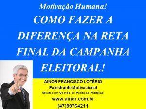 Ainor Lotério - Eleiçoes - Itajaí SC