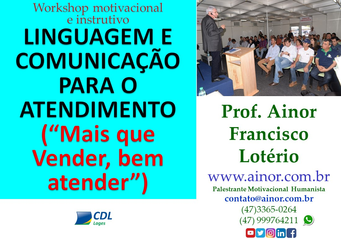 📣 Workshop Linguagem e Comunicação para o Atendimento (Lages – SC)